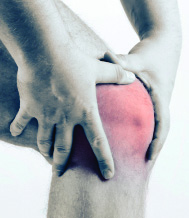 Individual with knee pain
