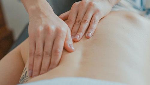Individual receiving massage